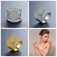 Fashion women 925 silver,gold jewelry white sapphire wedding ring size 6-10
