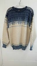Dale of Norway Blue and White Wool Sweater Sz XL
