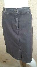 BURTON OF LONDON Taille 42 Superbe jupe en jeans jean denim marron femme