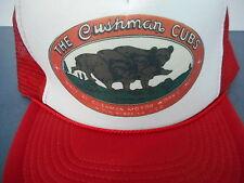 Hat Cushman Cubs Motor Works  Lincoln Nebraska USA Mesh snap back Cap