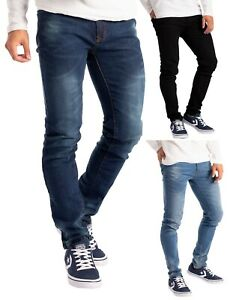 Herren Slim Fit Jeanshose Stretch Designer Hose Super Flex Denim Pants