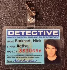 Grimm TV Series Id Badge - Detective Nick Burkhart  costume prop cosplay