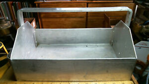 """13"""" Home Made Aluminum Tote Carry-all vintage old tool carrier"""