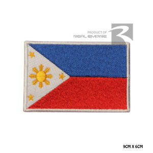 Philipines National Flag Iron on Sew on Embroidered Patch Badge For Clothes Etc