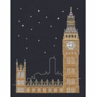 DMC Glow in the D'Architecture London by Night Cross Stitch Kit Mr X Stitch