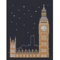 DMC Glow in the D'Architecture London by Night Cross Stitch Kit Mr X Stitch
