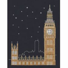 DMC Glow in the d'architecture London by night Punto Croce Kit Mr X Stitch