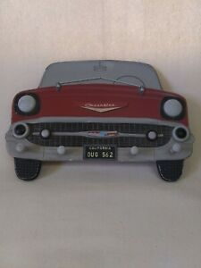 Distressed 1956 Chevrolet Wooden Sign With 4 Pegs Licensed Product Used