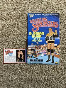 WWF B. Brian Blair Killer Bees LJN Poster 1986 Backing card WWE Very NICE