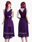 Purple Black Grey Blue Cocktail Evening Bridesmaid Races Dress Size 8 to 26 New