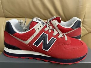New Balance ML574MUE Men's Size 10 Classics Fashion Shoes Pigment Team Red NEW