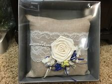 Rustic Country Ringbearer Wedding Pillow