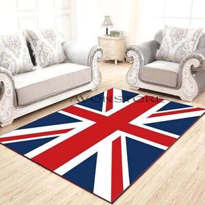 Royal Quality Blue Red Union Jack Traditional Rug Union Jack Flag Rugs Carpets