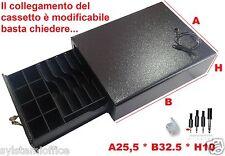 Cassetto porta soldi PICCOLO portavaluta in ferro 25x33 Registratore di Cassa