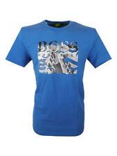 HUGO BOSS Cotton Blend Patternless Basic T-Shirts for Men