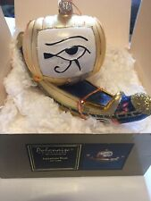 Kurt Adler Polonaise Egyptian Boat Ap1084 Glass Ornament ~New In Box