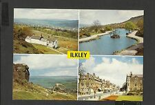 Vintage Arthur .Dixon Multi View Colour Postcard Ilkley Yorkshire Unposted