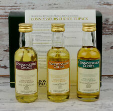 Caol Ila, tomatin, inchgower tasting set Gordon & MacPhail miniature whisky