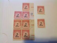 UNITED STATES, 1959, #J90, 2 CENT POSTAGE DUE STAMPS, SET OF 9, unused