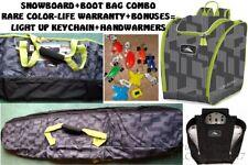 New listing New High Sierra Snowboard Bag + Boot Bag Combo-Life War!-Padding-Punky Camo-Dlx.