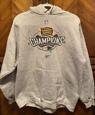 NFL Reebok New England Patriots Super Bowl 38 Champions Hoodie Sweatshirt Large