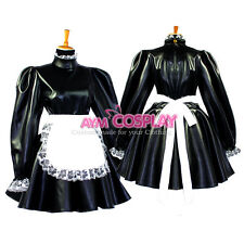 Faux Leather lockable Sissy maid dressTailor-Made [G652]