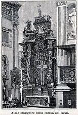 MIRANDOLA: Chiesa del Gesù: Altare Maggiore. Modena. Emilia. Stampa Antica. 1889