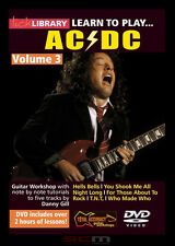 LICK LIBRARY ACDC VOLUME 3 LEARN 5 SONGS NOTE-FOR-NOTE  BRAND NEW DVD FREE P+H!