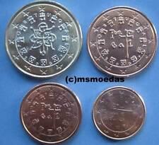 Portugal 4 Euromünzen Jahr 2007 Euro Münzen 1 Cent+2 Cent+5 Cent+1 Euro coins