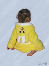 Süsser Baby - Kinderbademantel Gelb mit Kapuze