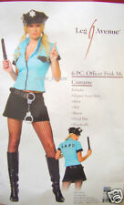 POLICE OFFICER woman cop LADIES fancy dress costume M