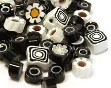 Millefiori Mosaico baldosas - Lava negro