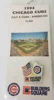 Chicago Cubs July 4, 1994 Builders Square American Flag Pin Giveaway Vintage