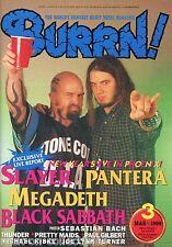 Burrn! Heavy Metal Magazine March 1999 Japan Slayer Pantera Black Sabbath