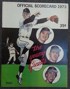San Francisco Giants Los Angeles Dodgers 1973 Program Scorecard Baseball MLB