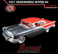 "ACME A1808001 1:18 1957 OLDSMOBILE SUPER 88 GREY / RED LTD 762 ""IN STOCK"""
