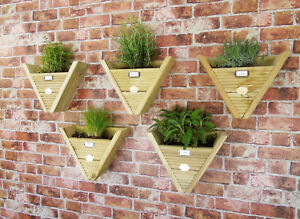 Hanging Basket Herb Treated Planters Pots Triangle Boxes Vertical Balcony Garden
