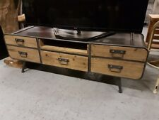 Retro Vintage Industrial TV bench urban vintage media store unit TV cabinet New