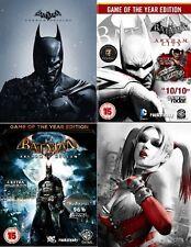 Batman Arkham Bundle PC [Steam Key] No Disc, Region Free Asylum, City, Origins,