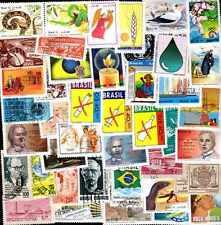 BRESIL - BRAZIL commémoratifs collections de 50 à 200 timbres différents