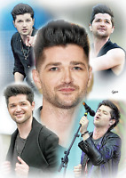 Danny O' Donoghue The Script Unframed Pencil Drawing Art Numbered Print