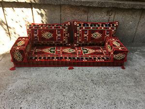 Bohemian ottoman majlis sofa,floor cushions,floor sofa bed,Artisan Room Décor 2
