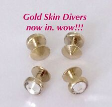 3mm and 4mm pvd gold SKIN DIVER add on kits. EXTRA skin diver microdermals