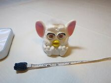 Furby McDonalds plastic toy White makes sound noise 1999 Tiger electronics McD.
