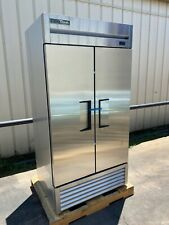 True T-35-Hc two door stainless steel refrigerator on casters Kitchen bakery