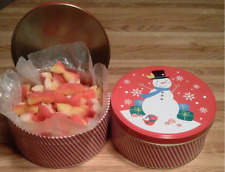 2-LB ROUND GIFT TIN OF OLD SCHOOL PEACH BUDS CANDY W/COCONUT CENTER