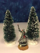 "2 Winter Fir Trees 4"" Warhammer 40k Warmachine War Game D&D RPG Terrain Scenery"