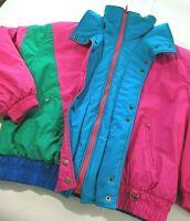 Vintage Ski Snowboard Jacket Womens Size 10 - 80s 90s Color block Obermeyer