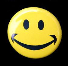 "YELLOW HAPPY FACE - Novelty Fun Button Pinback Badge 1"""