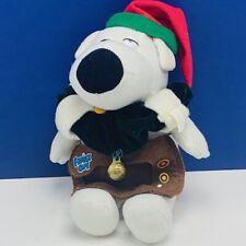 Family Guy plush Brian dog 2008 Christmas bells stuffed animal beanbag vtg retro